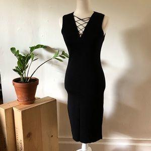 New York & co black midi dress